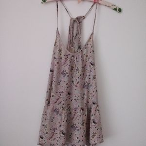 Summer flowy tank top with racer back